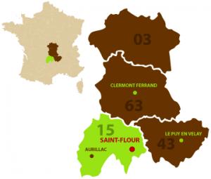 Saint-Flour dans le Cantal est la ville idéale pour se détendre et être proche de la nature.