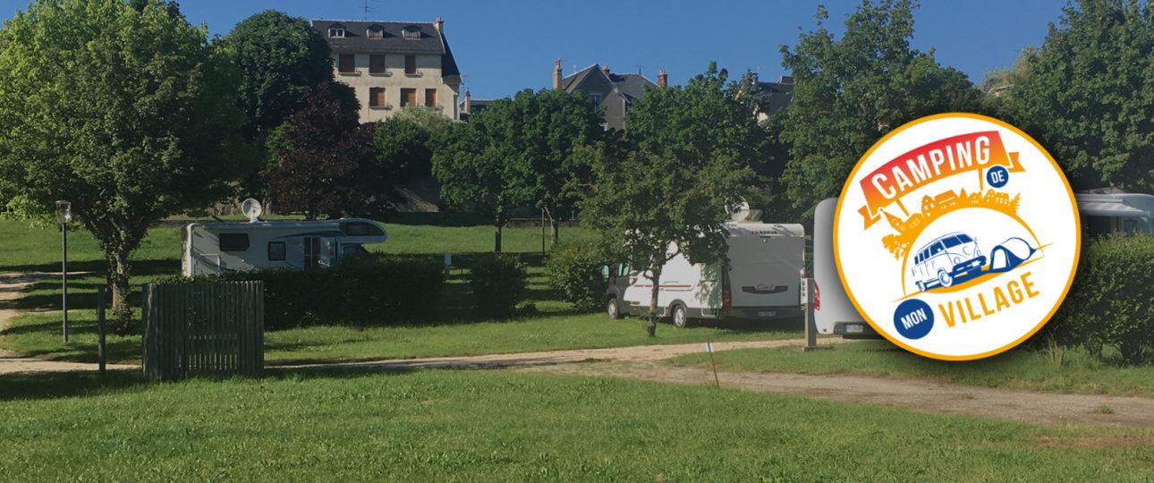 Camping des orgues Saint-Flour avec logo